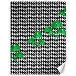 Houndstooth Leaf Canvas 36  x 48