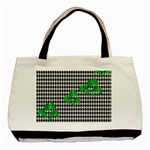 Houndstooth Leaf Basic Tote Bag (Two Sides)