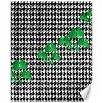 Houndstooth Leaf Canvas 11  x 14