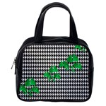 Houndstooth Leaf Classic Handbag (One Side)