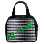 Houndstooth Leaf Classic Handbag (Two Sides)