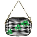 Houndstooth Leaf Chain Purse (One Side)