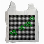 Houndstooth Leaf Recycle Bag (Two Side)