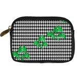 Houndstooth Leaf Digital Camera Leather Case