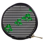 Houndstooth Leaf Mini Makeup Bag