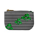 Houndstooth Leaf Mini Coin Purse