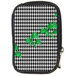 Houndstooth Leaf Compact Camera Leather Case
