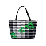 Houndstooth Leaf Classic Shoulder Handbag