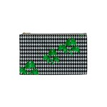 Houndstooth Leaf Cosmetic Bag (Small)