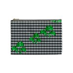 Houndstooth Leaf Cosmetic Bag (Medium)