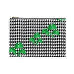 Houndstooth Leaf Cosmetic Bag (Large)