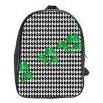 Houndstooth Leaf School Bag (Large)