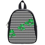 Houndstooth Leaf School Bag (Small)
