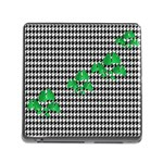 Houndstooth Leaf Memory Card Reader (Square 5 Slot)