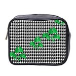 Houndstooth Leaf Mini Toiletries Bag (Two Sides)
