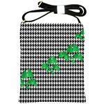 Houndstooth Leaf Shoulder Sling Bag