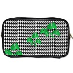 Houndstooth Leaf Toiletries Bag (Two Sides)