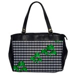 Houndstooth Leaf Oversize Office Handbag