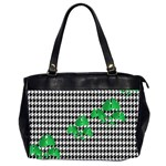 Houndstooth Leaf Oversize Office Handbag (2 Sides)
