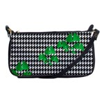 Houndstooth Leaf Shoulder Clutch Bag