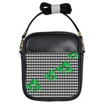 Houndstooth Leaf Girls Sling Bag
