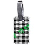 Houndstooth Leaf Luggage Tag (one side)