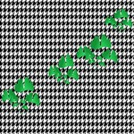 Houndstooth Leaf Magic Photo Cube