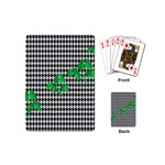 Houndstooth Leaf Playing Cards Single Design (Mini)