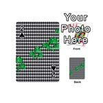 Houndstooth Leaf Playing Cards 54 Designs (Mini)