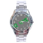 Houndstooth Leaf Stainless Steel Analogue Watch