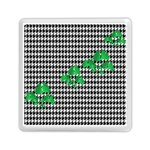 Houndstooth Leaf Memory Card Reader (Square)