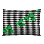 Houndstooth Leaf Pillow Case (Two Sides)