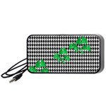 Houndstooth Leaf Portable Speaker