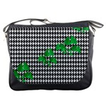 Houndstooth Leaf Messenger Bag