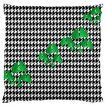 Houndstooth Leaf Large Cushion Case (One Side)