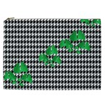 Houndstooth Leaf Cosmetic Bag (XXL)