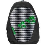Houndstooth Leaf Backpack Bag