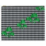 Houndstooth Leaf Cosmetic Bag (XXXL)