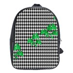 Houndstooth Leaf School Bag (XL)