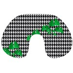 Houndstooth Leaf Travel Neck Pillow
