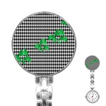 Houndstooth Leaf Stainless Steel Nurses Watch