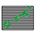 Houndstooth Leaf Double Sided Fleece Blanket (Small)