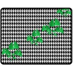 Houndstooth Leaf Double Sided Fleece Blanket (Medium)