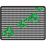 Houndstooth Leaf Double Sided Fleece Blanket (Large)