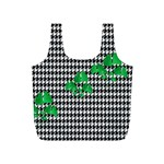 Houndstooth Leaf Full Print Recycle Bag (S)