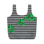 Houndstooth Leaf Full Print Recycle Bag (M)