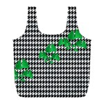 Houndstooth Leaf Full Print Recycle Bag (L)