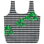 Houndstooth Leaf Full Print Recycle Bag (XL)