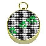 Houndstooth Leaf Gold Compasses