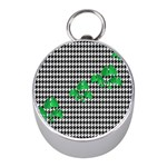 Houndstooth Leaf Mini Silver Compasses